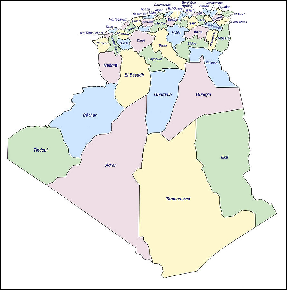 Carte Algerie Blida.Carte Des Projets Entreprise Metro D Alger